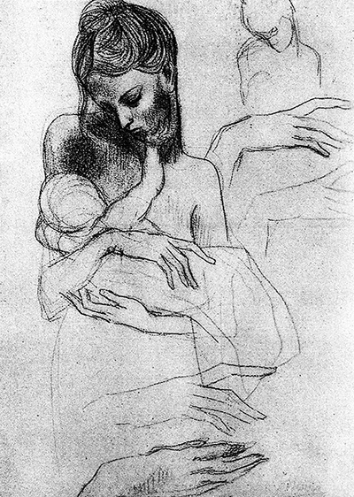 Mother and the child , Pablo Picasso, 1904